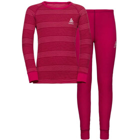 Odlo Active Originals Warm Sarja Lapset, cerise/fruit dove/stripes